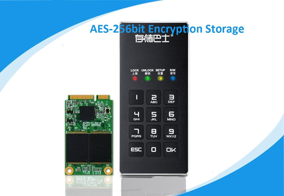 1.8 inch USB3.0 Encrypted mSATA SSD Hard Drive